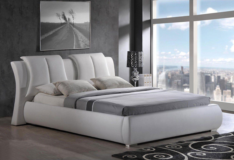 8269 Upholstered Bed White Upholstered Platform Bed Global