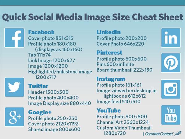 2019 Social Media Image Sizes Cheat Sheet | Best Blog Tips