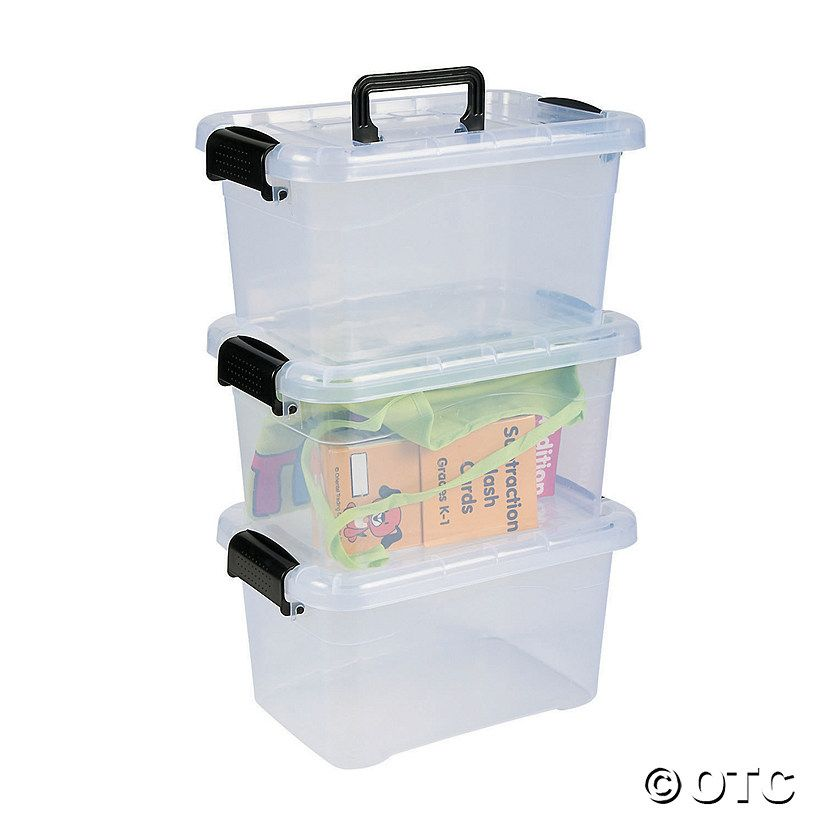 Keep things organized and space maximized with our Large Locking Storage Bins with Lids. Featuring easy to open, durable locking clasps, these sturdy storage ...