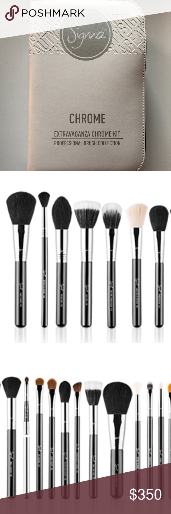 Sigma Makeup Brushes Chrome Complete Kit COMPLETE KIT 29