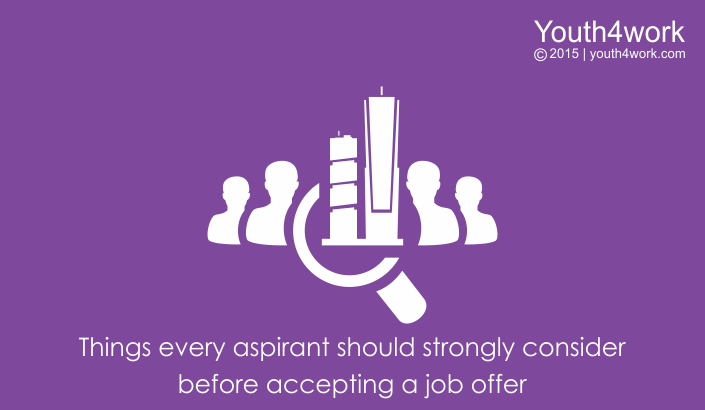 Things Every Aspirant Should Strongly Consider Before Accepting
