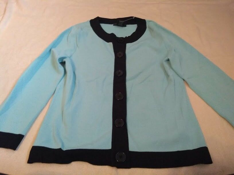 1f312aca42d6 WILLI SMITH TEAL WITH BLACK TRIM CARDIGAN SIZE MEDIUM #fashion #clothing  #shoes #accessories #womensclothing #sweaters (ebay link)