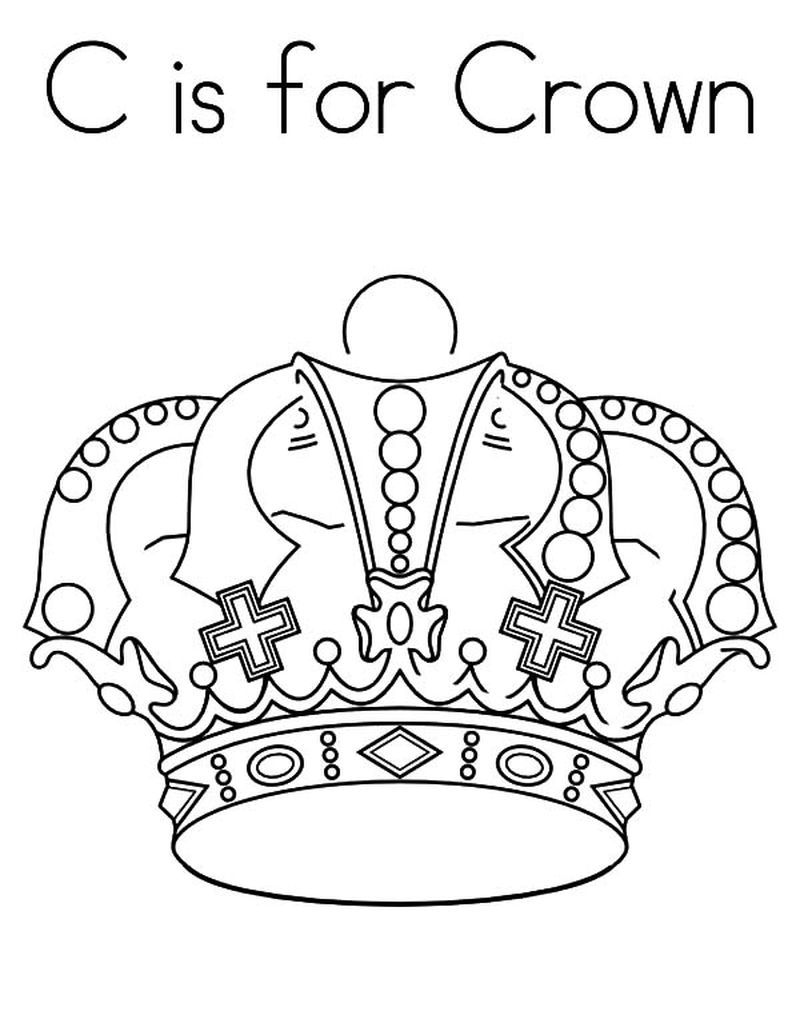 Crown Coloring Page Printable Free A Simple Headdress Or With A Lot Of Decoration Worn By Prominent People Such As Kings Queens Other Rulers And People Wh