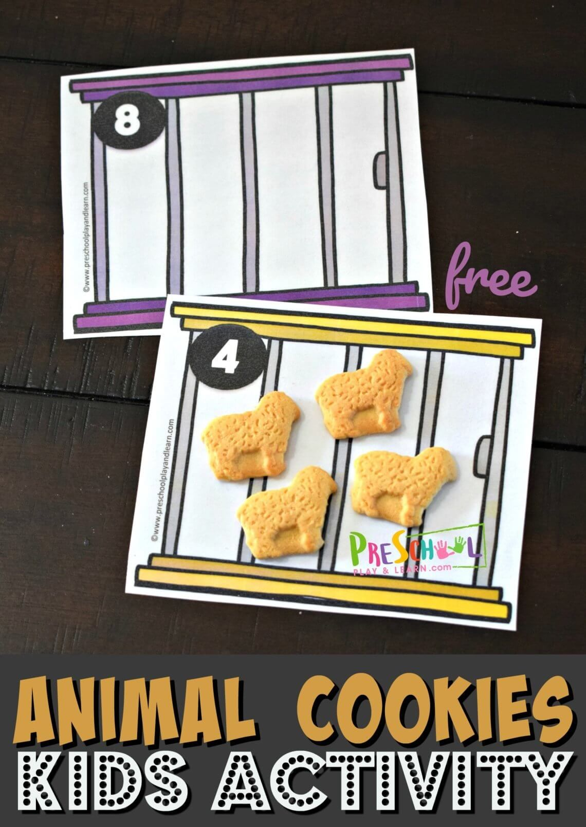 This Free Animal Cookies Math Activity For Preschoolers Is