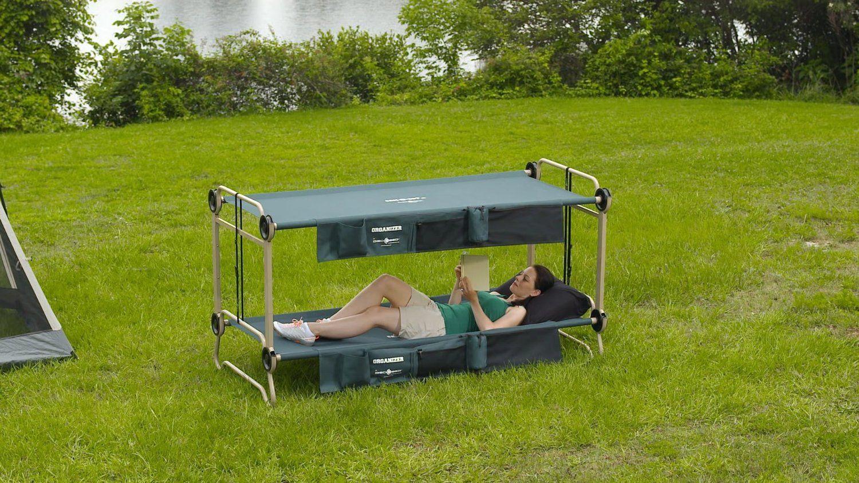 Etagenbett Camping : Disc o bed cam bunk portable camping tipps und ideen