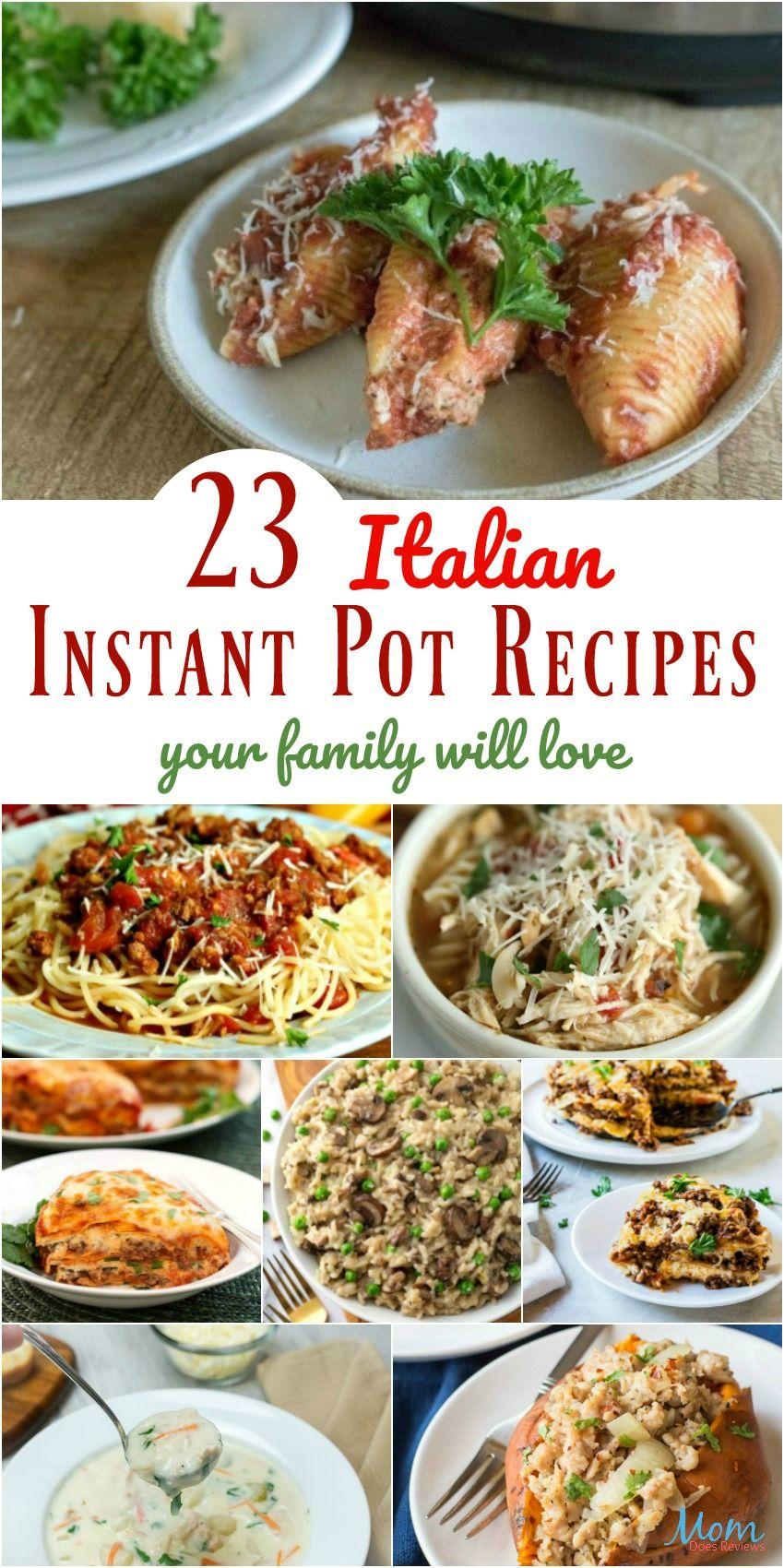 23 easy italian instant pot recipes your family will love