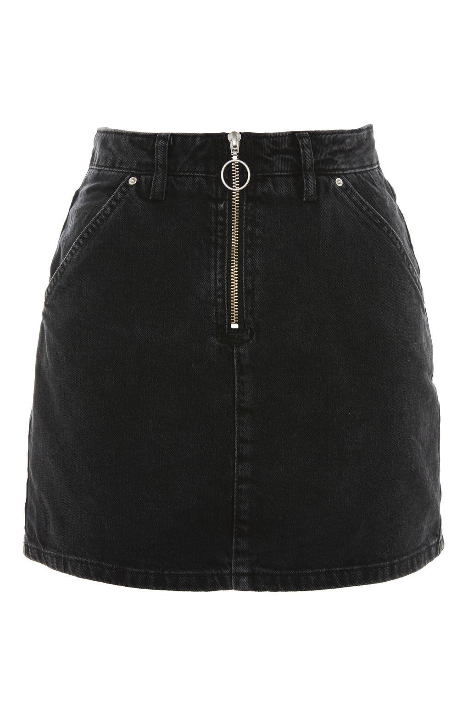 e199da797d9 Half Zip Denim Skirt - New In Fashion - New In