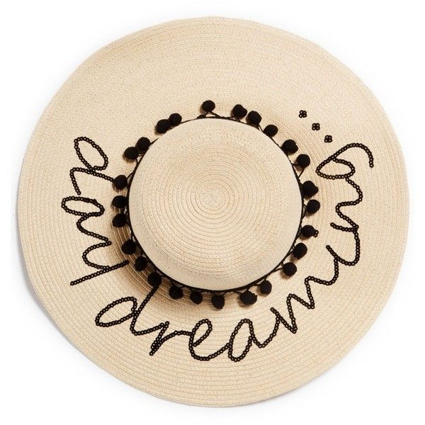 bf8f13418da Sunshine meets fun shine on an August Hats wide-brim floppy hat decorated  with pom