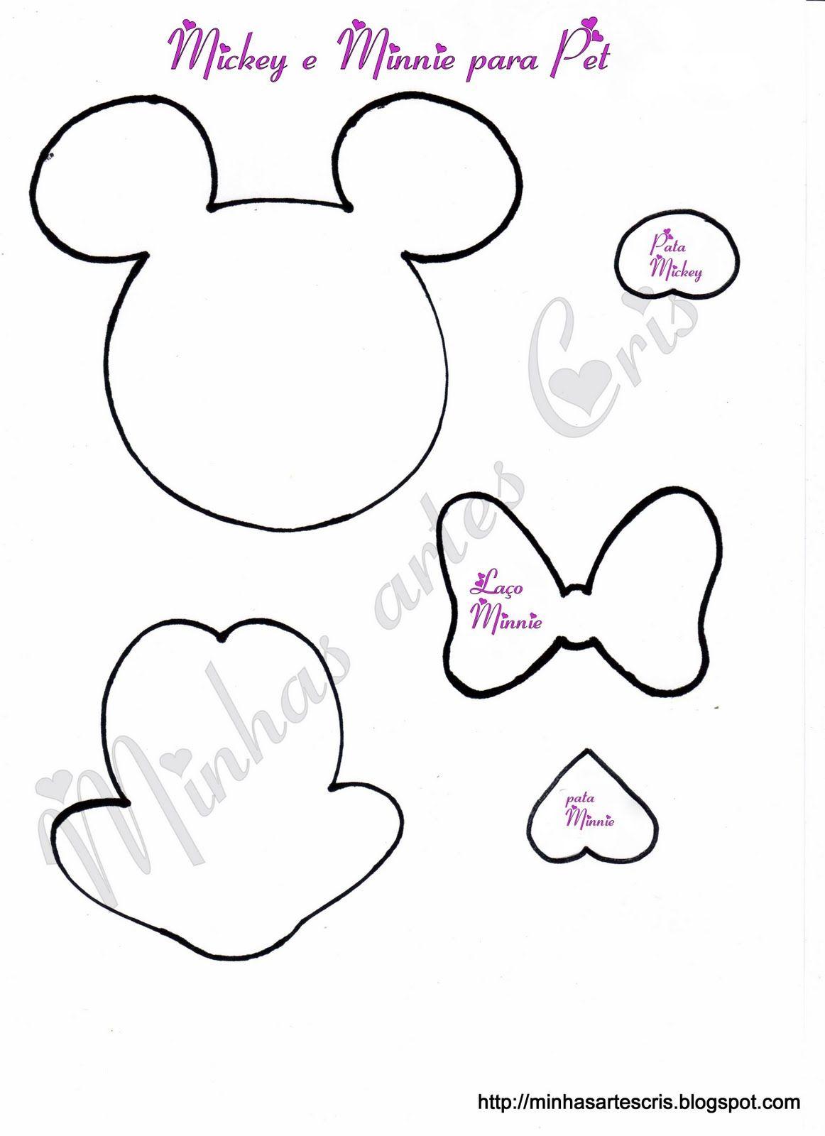 Moldes Em Eva Mickey Pesquisa Google Moldes De Minie Mouse