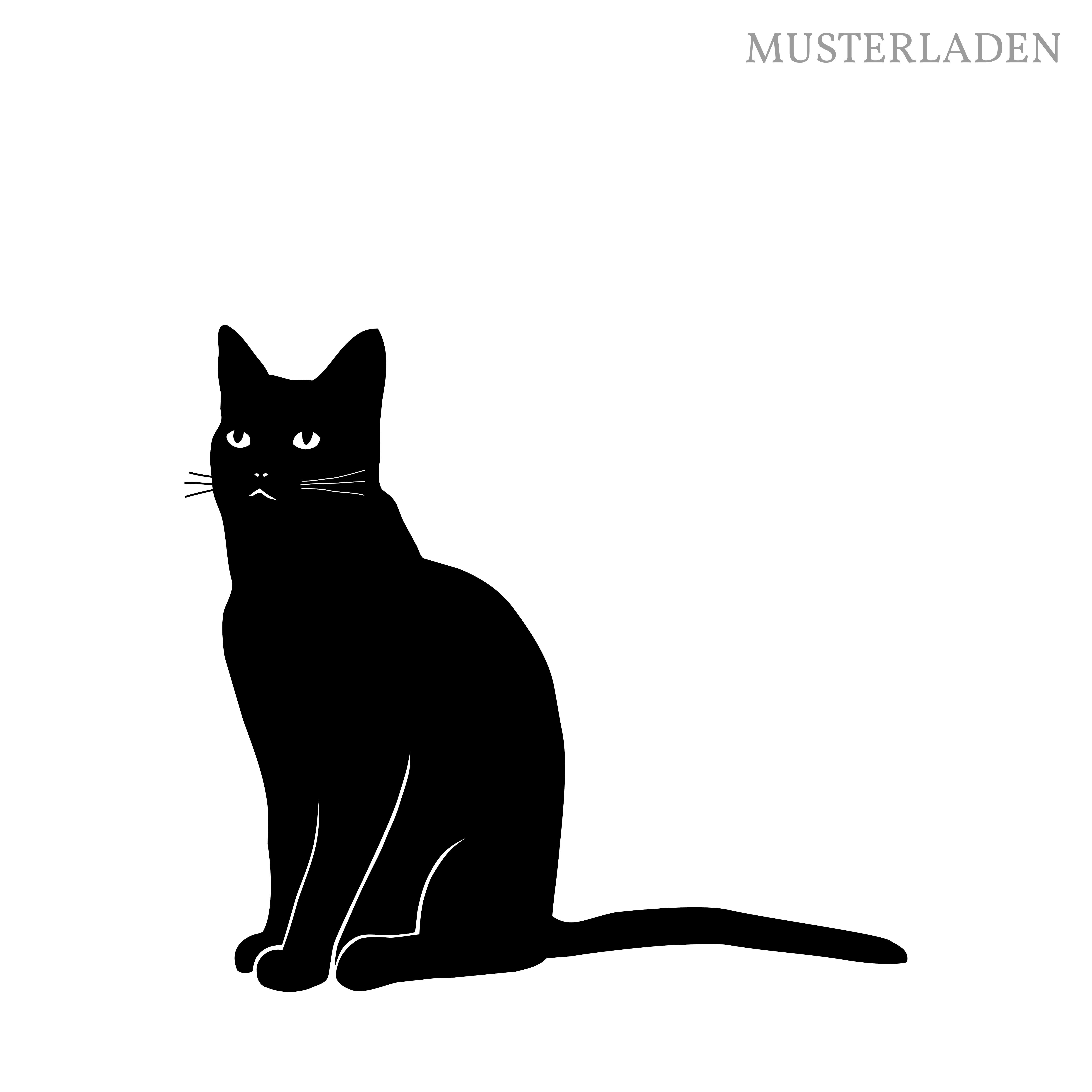 Amüsant Wandtattoo Katzen Foto Von