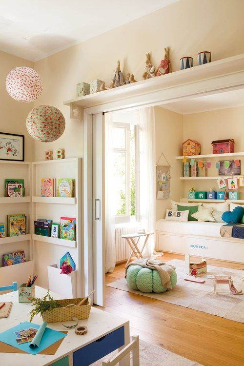Dormitorio para los niños con sala de juegos sueños Pinterest