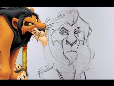 How To Draw Scar From Disneys The Lion King