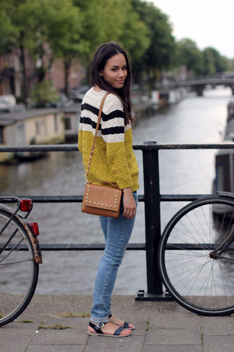 aa0781c15a79 teetharejade » Blog Archive Amsterdamn good  Semi-striped sweater outfit »  teetharejade
