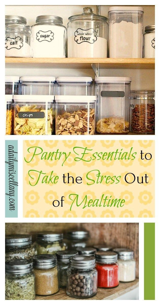 Pantry Essentials To Take The Stress Out Of Mealtime With Images