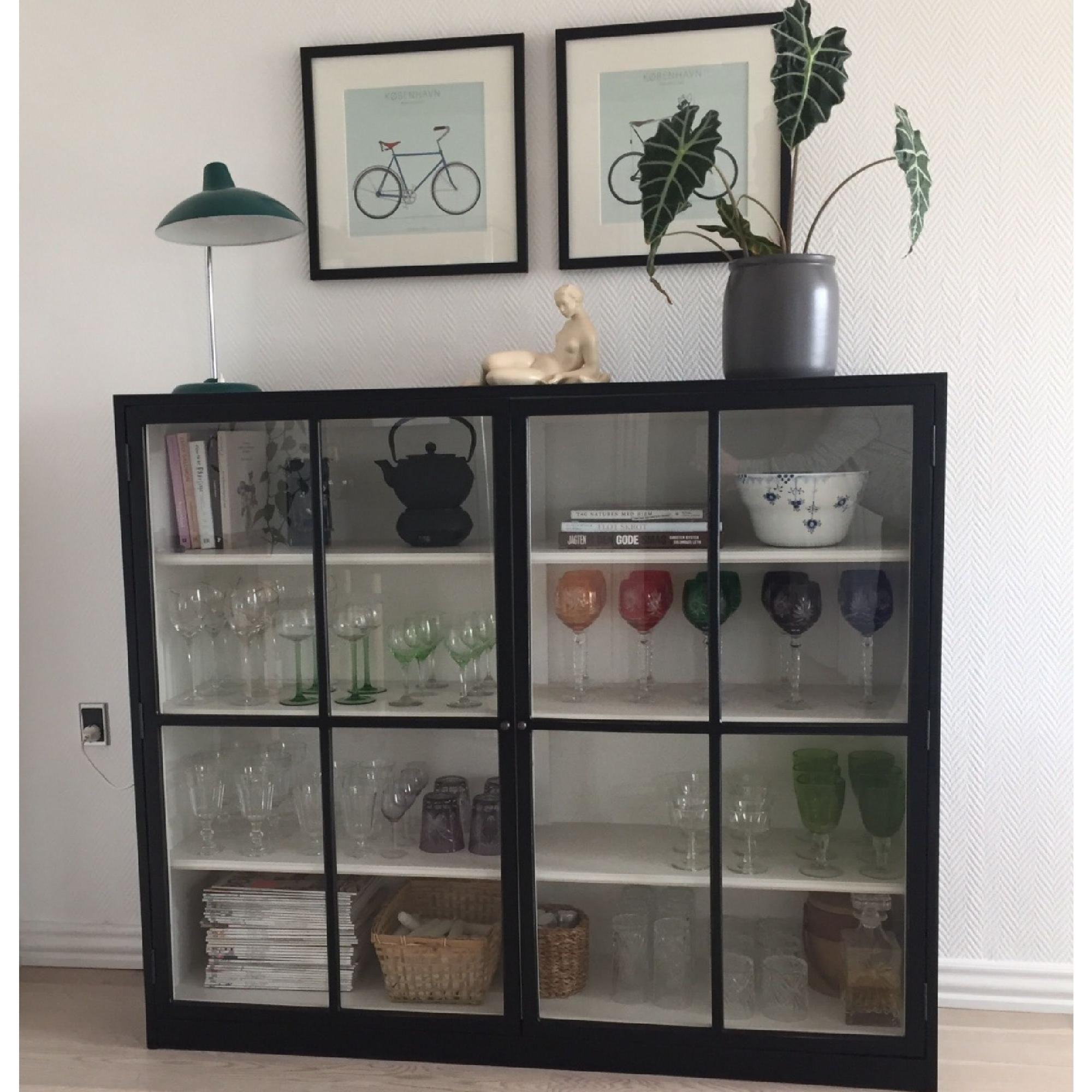 HEMNES Glass-door cabinet, white stain   HEMNES, White stain and ...