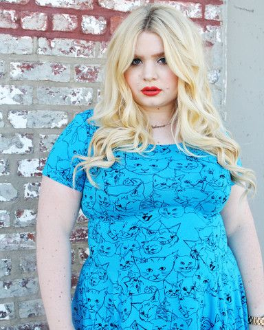 Isa Teal Cat Project dress (part of proceeds goes to no-kill shelters)