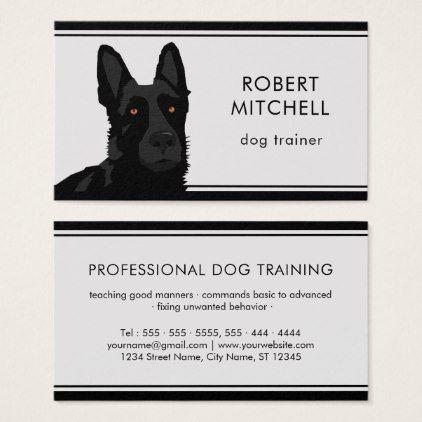 Dog Trainer Black German Shepherd Business Card Zazzle Com