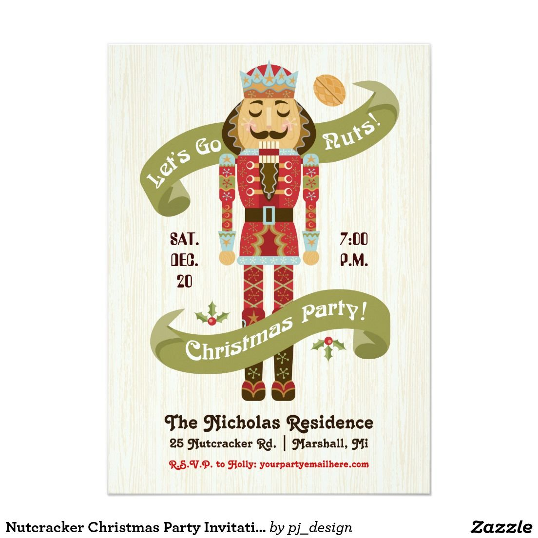Nutcracker Christmas Party Invitation | Mom and Kids Stuffs and ...