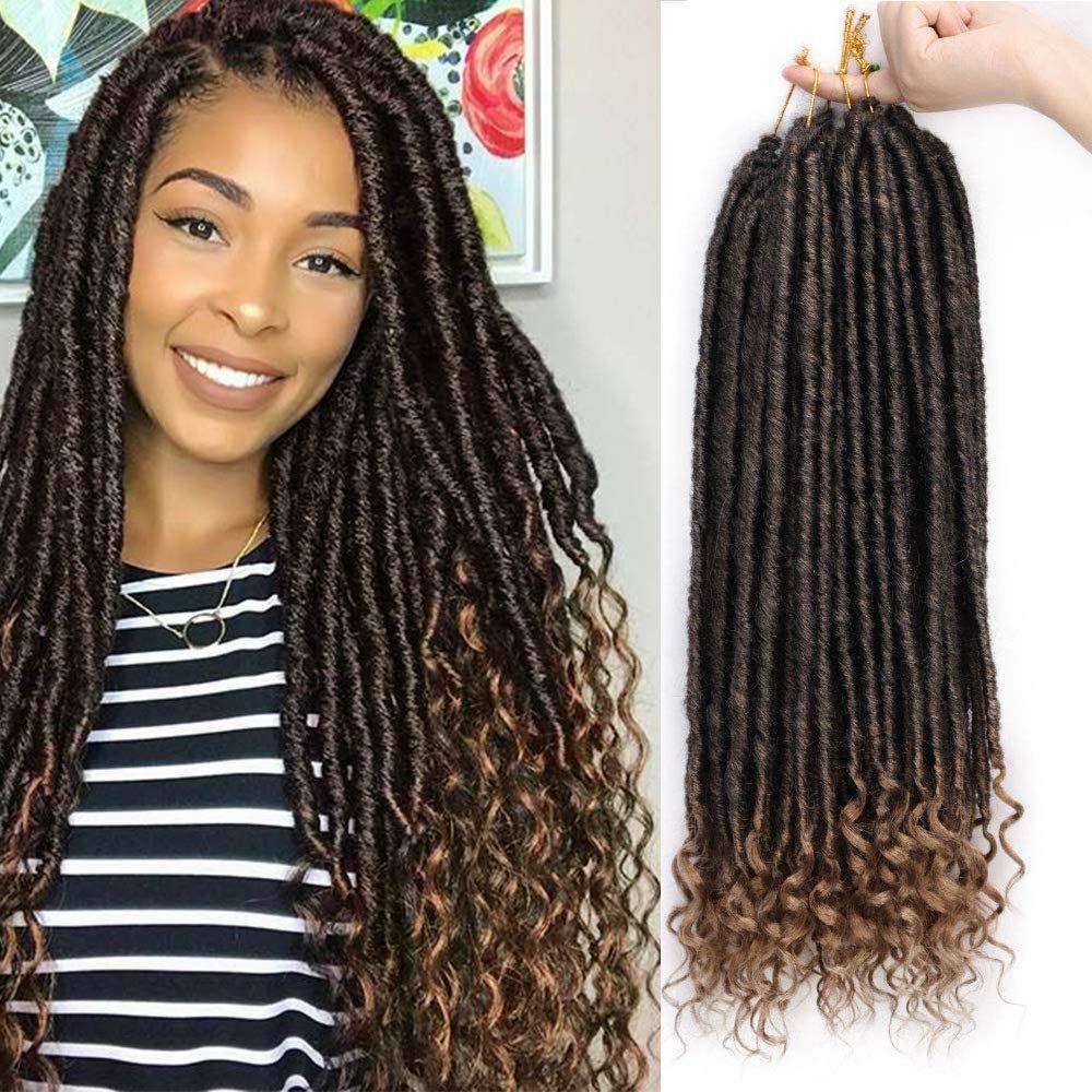 1B/27 20 Inches Goddess Locs Crochet Hair Braiding