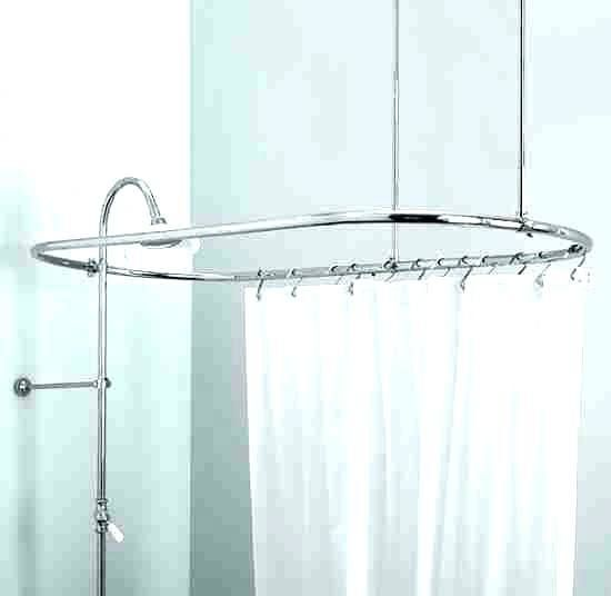 Free Standing Outdoor Shower Curtain Rod Curtain Rods Shower