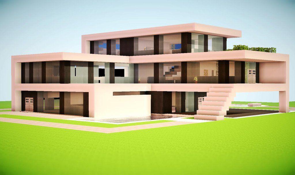Minecraft Modern House | constructions minecraft ...