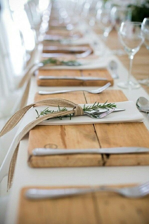 Wood Placemats, Rustic Wedding, Rustic Christmas, Rustic Thanksgiving, Rustic Table is part of Rustic table setting - Our Wood Placemats form a solid foundation for plate settings  Add an earthy touch to the table   Each placemat is made with 2 pieces of pine wood and left raw  Want a stain finish    No problem at check out indicate your finish option  Each one is sanded and attached with screws on the back with