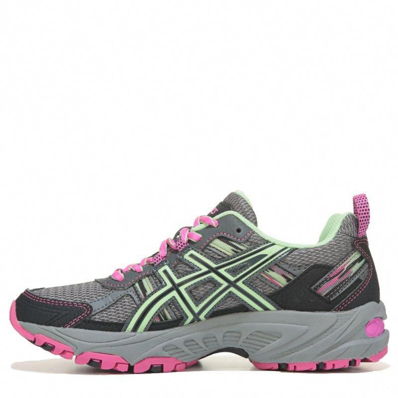 a1db0df021a ASICS Women's Gel-Venture 5 Trail Running Shoes (Grey/Pistachio/Pink)