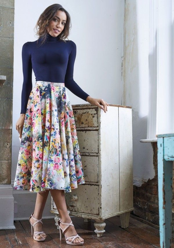 No-Pattern Midi Skirt - Free sewing patterns | Pinterest | Rock ...