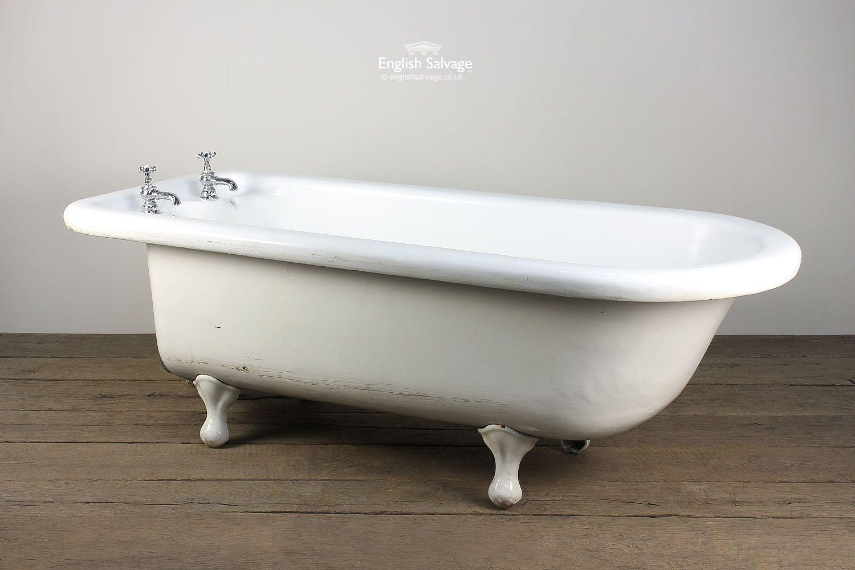 Salvaged Roll Top Bath with Bulbous Feet | Bath Bits | Pinterest ...