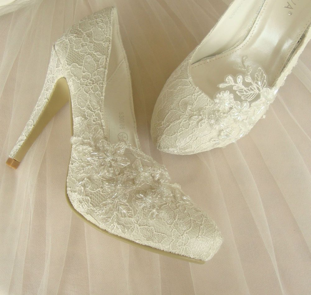 Ivory Lace Wedding Shoes EXCLUSIVE Made To Order