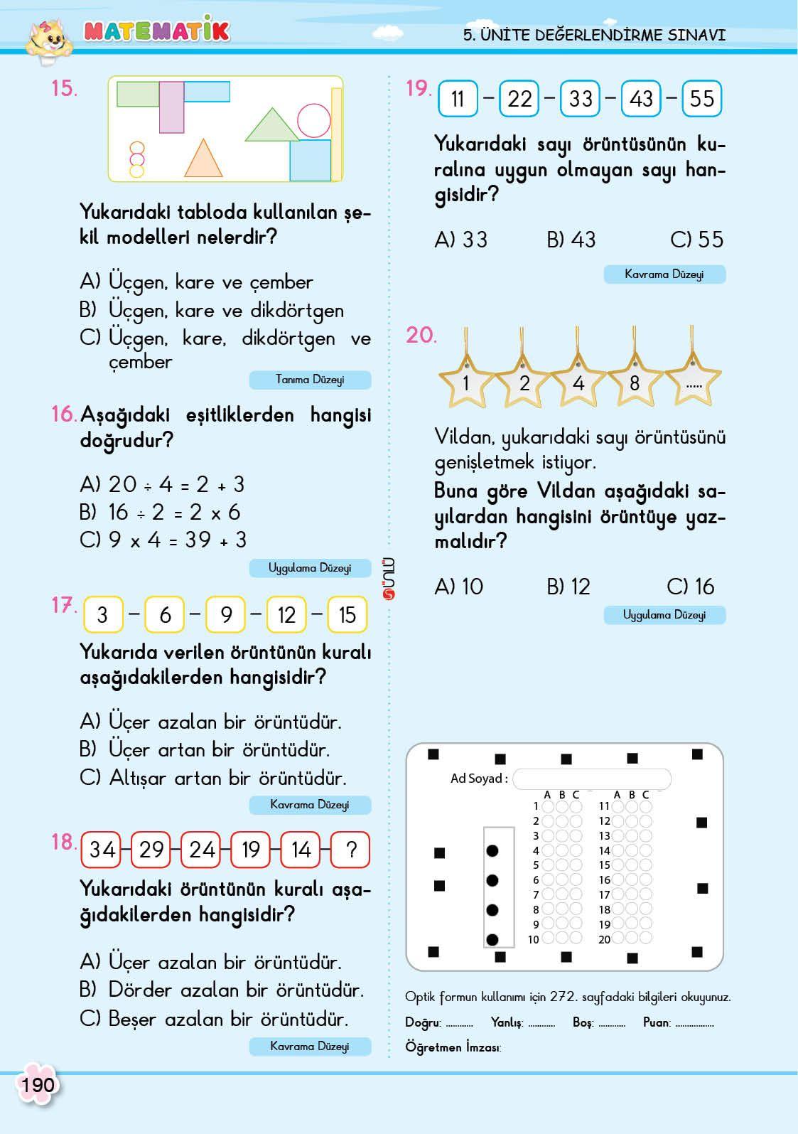 2 Sinif Soru Bankasi Matematik Super Kitap Matematik Rehber