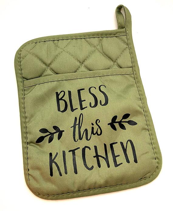 Primitives by Kathy Oven Mitt Green Kitchen Accessories