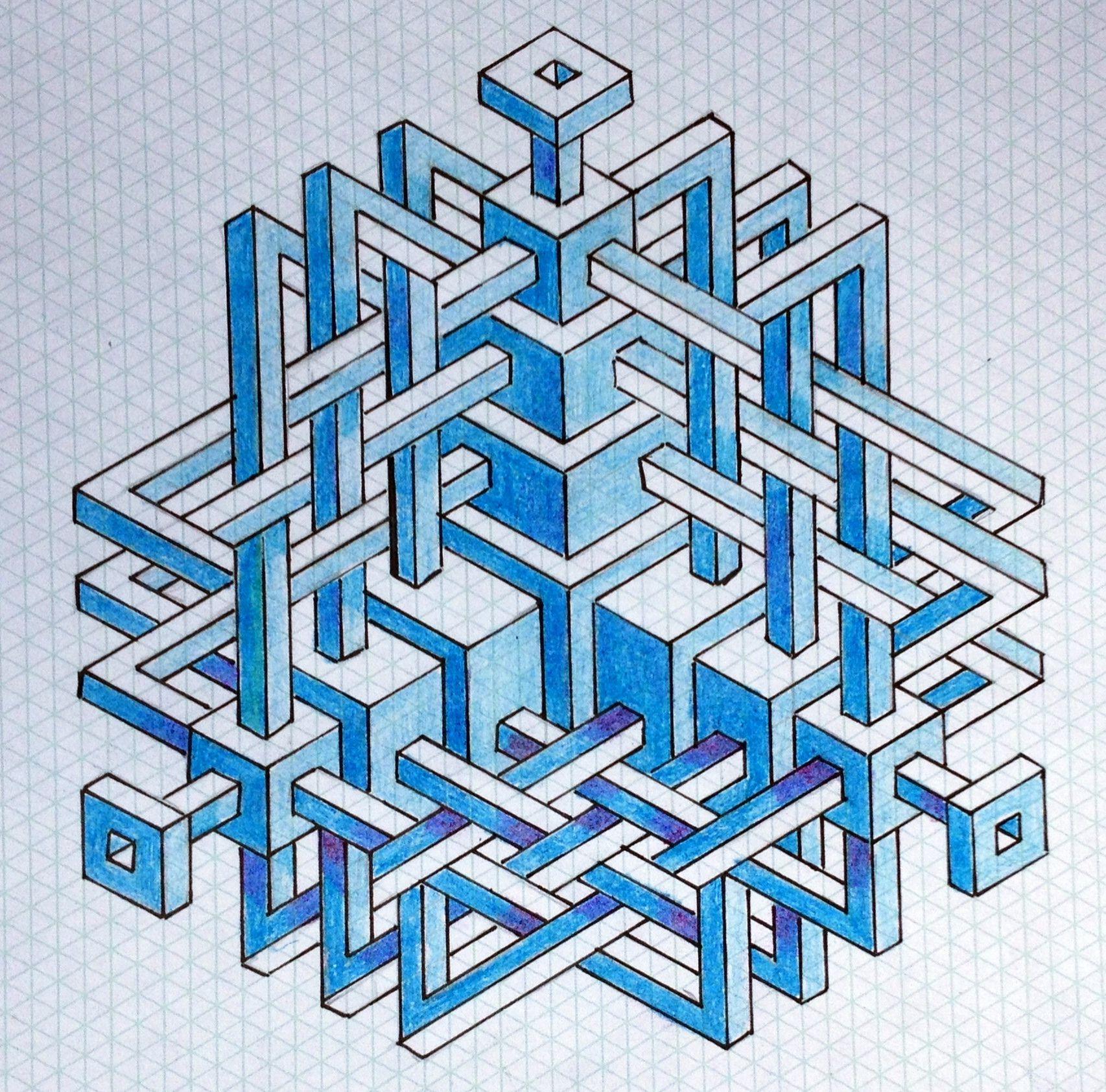 Regolo54 Impossible Isometric Penrosetriangle Oscarreutersvard Mauritiuscorneliusescher
