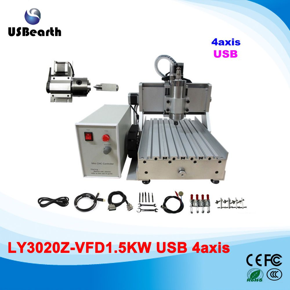 cnc router machine LY 3020 1 5KW with usb port woodworking