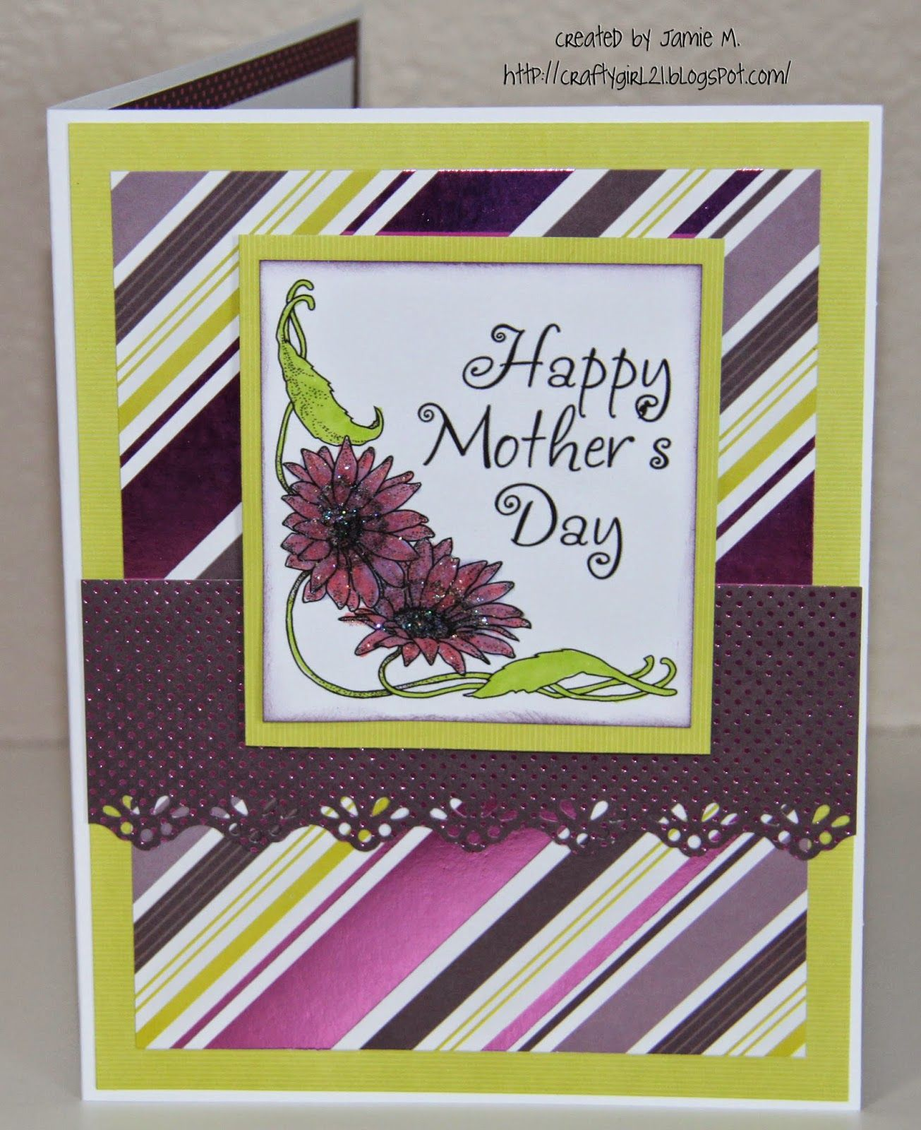 Crafty Girl 21 Flower Mothers Day Cards Mothers Day Cards Happy Mother S Day Cards