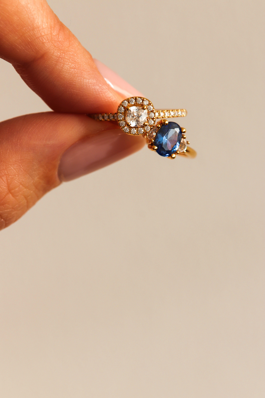 Bague De Mariage Bague De Fiancailles Saphir Bague Bague Fiancaille Diamant