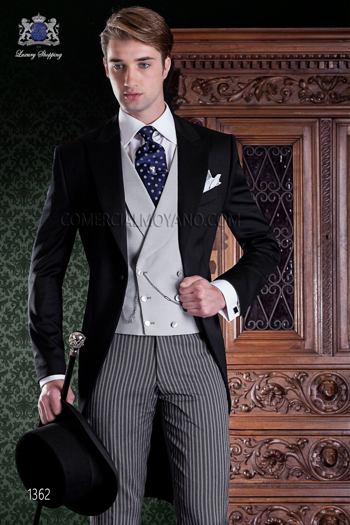 couture italienne redingote 2 pi ces avec coupe l gante slim tissu 100 tiquette des. Black Bedroom Furniture Sets. Home Design Ideas