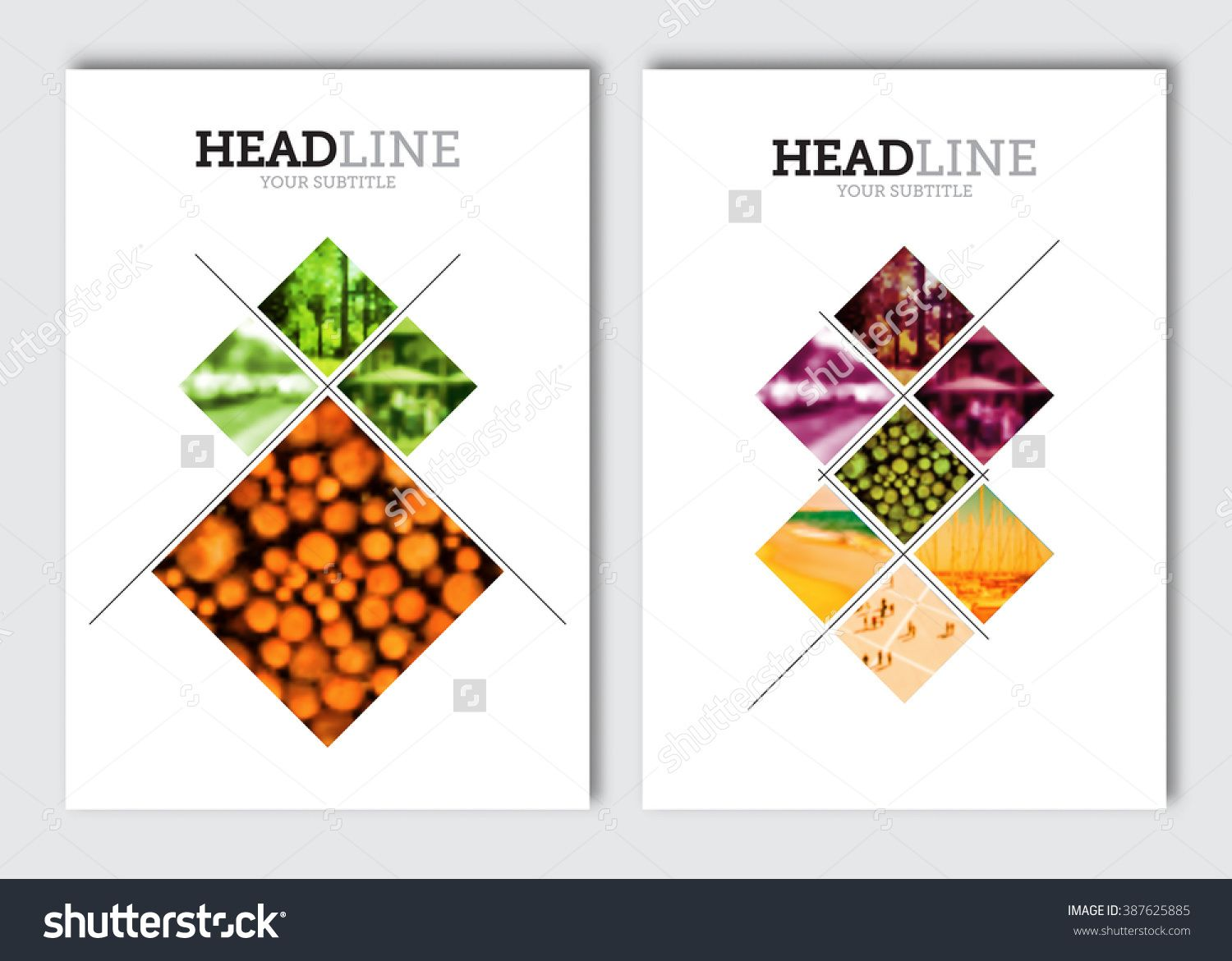 business brochure design template vector flyer layout blur background with elements for magazine cover poster design a4 size