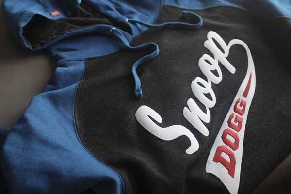 SNOOP DOGG  PUCK DODGER  pullover raglan-style hockey hoodie in charcoal  heather and 6954cd65a