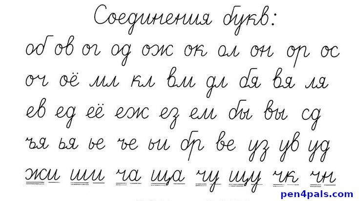 Connecting the Russian Handwriting Cursive Letters ...