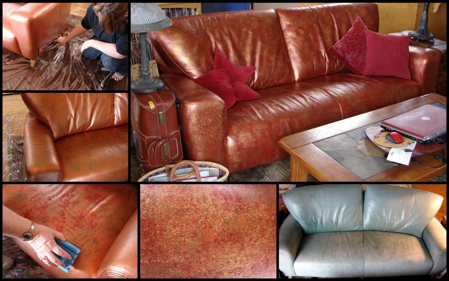 Faded Leather Couch Repair
