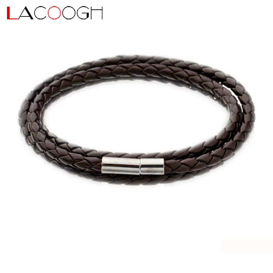 Click to buy ucuc lacoogh new trendy multiple leather bracelets