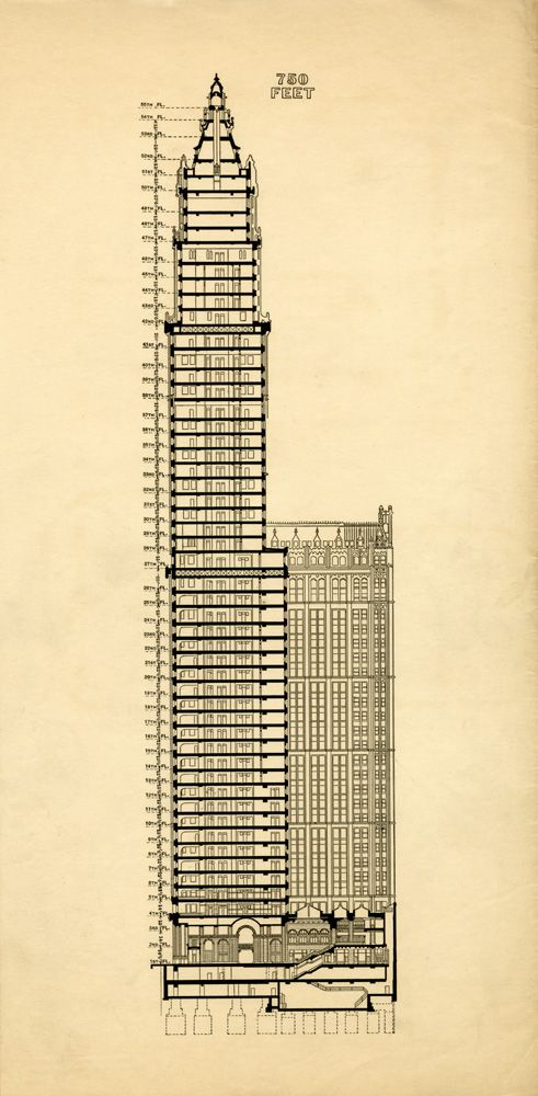 New York Historical Society Woolworth Building Building Building Drawing