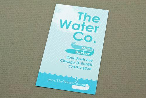 Illustrative water utilities business card business cards illustrative water utilities business card colourmoves Choice Image
