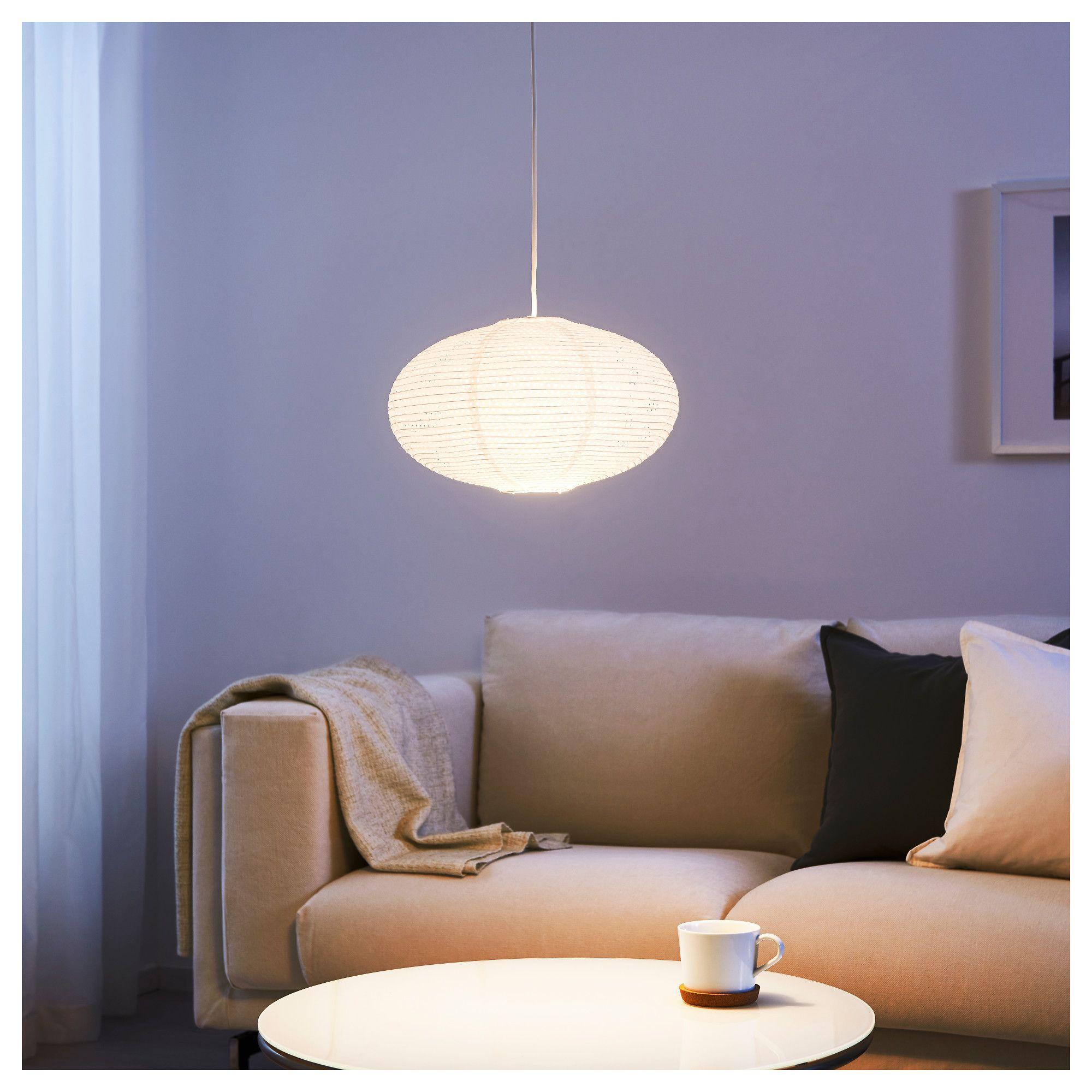 IKEA SOLLEFTEA PENDANT Lamp Shade, Rice