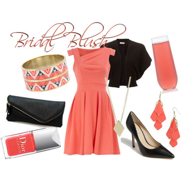 Bridal Blush (drink inspired fashion)