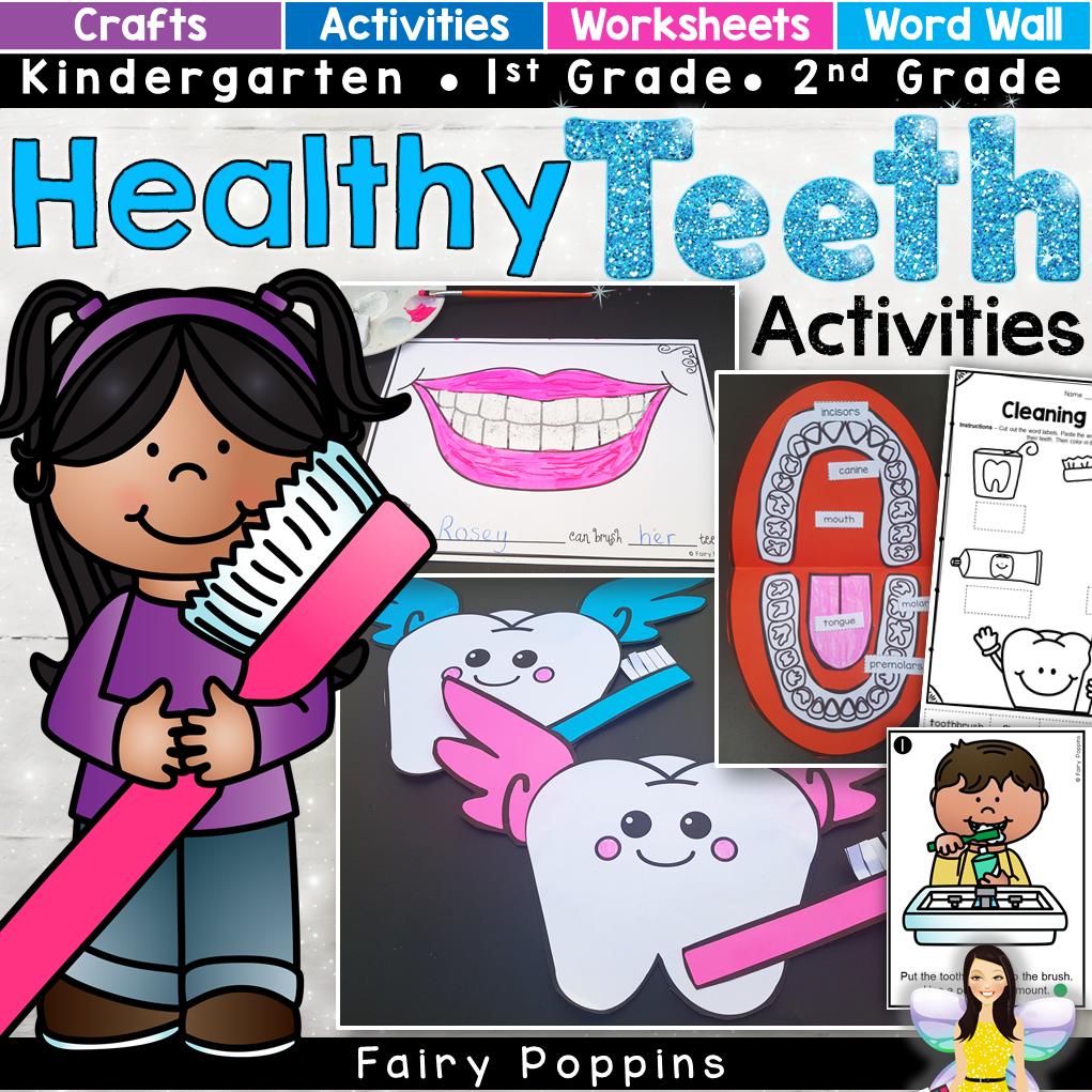 Dental Activities For Kids In Preschool Kindergarten First Grade And Second Grade Includes Craf Dental Health Activities Healthy Teeth Activities Activities [ 1021 x 1021 Pixel ]