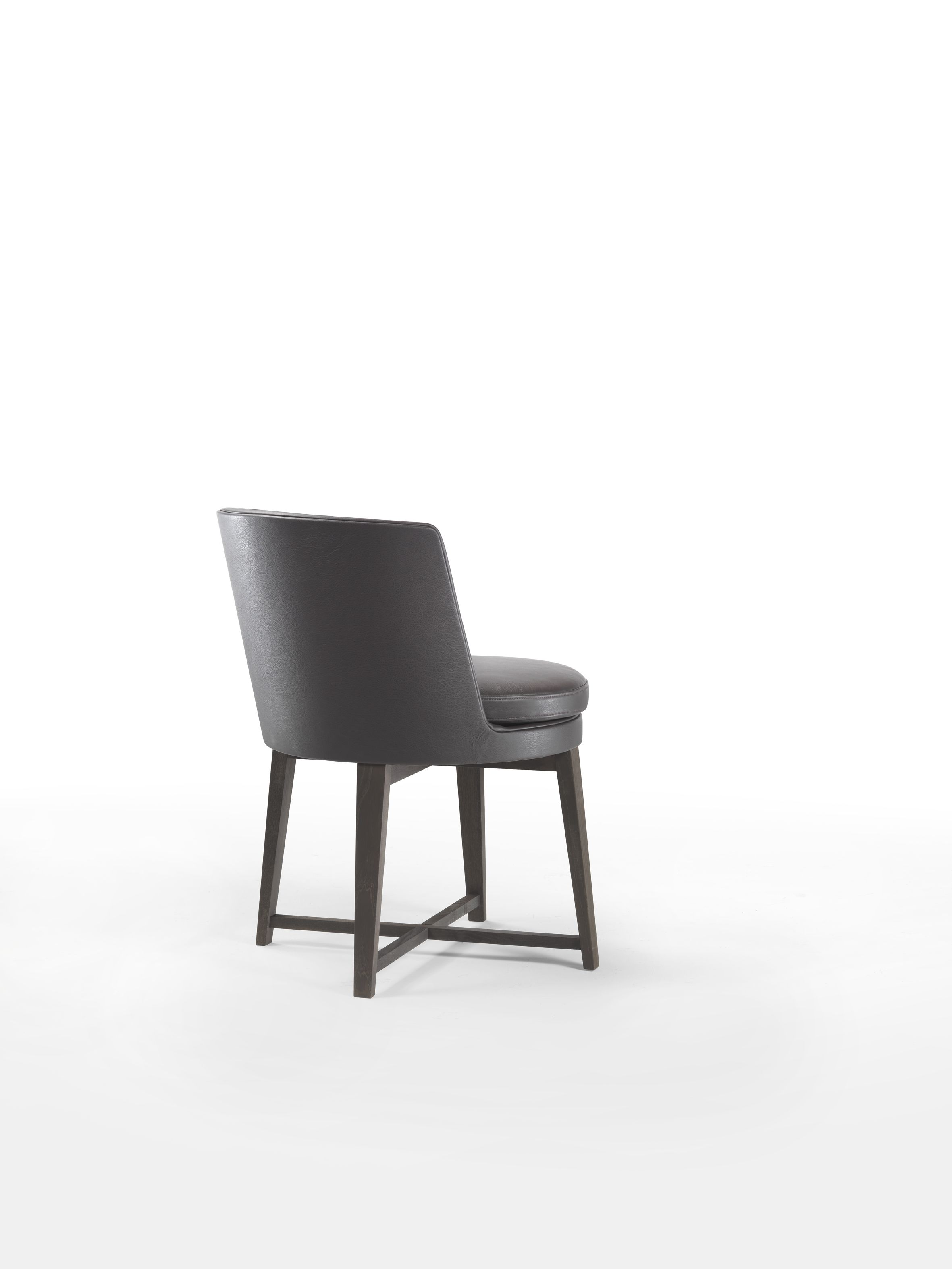 Best Flexform Feel Good Small Dining Armchair With Wooden Base 400 x 300