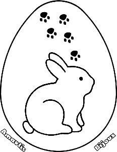 ovo pascoa desenho colorir coelho amavlis bijoux pinterest