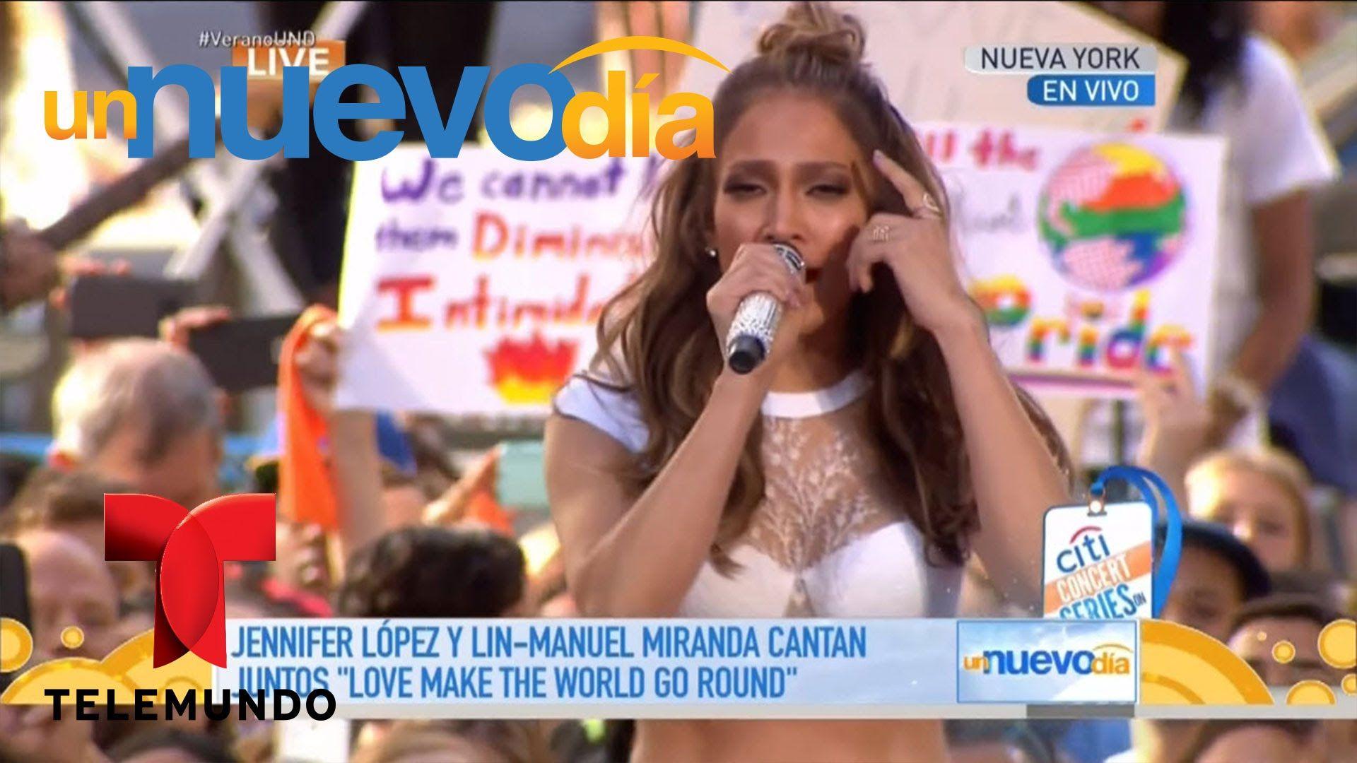 JLo y Lin-Manuel Miranda por las víctimas de Orlando | Un Nuevo Día | Te...